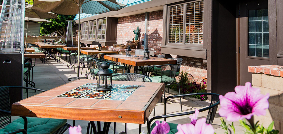 Enjoy your dinner in our beautiful Amigo Spot patio!
